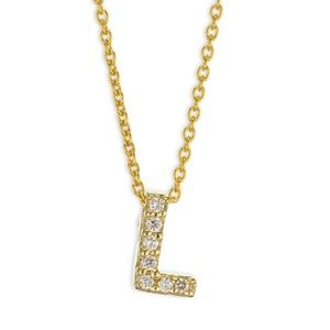 "ROBERTO COIN Tiny Treasures initial ""L"" necklace!"